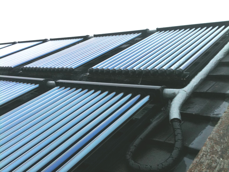 solar hot water pipework